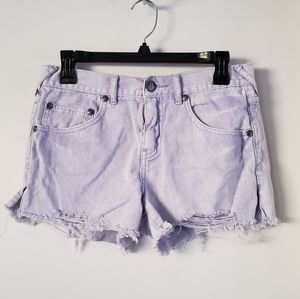 Free People Distressed Shorts Size 27